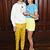 Anwar Hadid and Dua Lipa at the Marc Jacobs New York Fashion Week Show