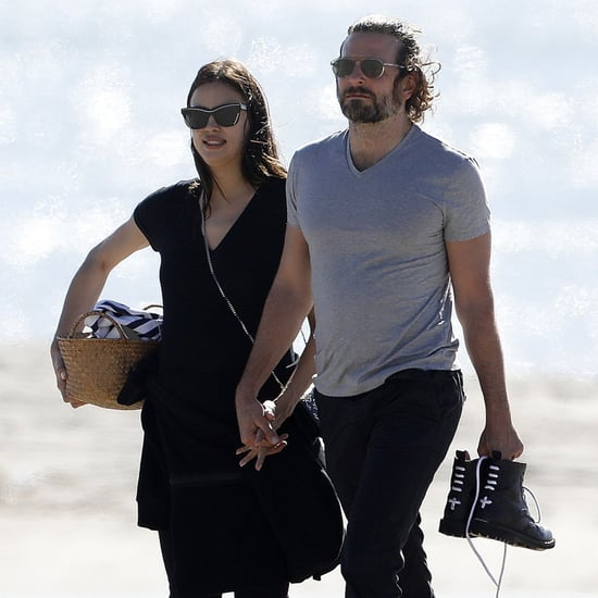 Irina Shayk and Bradley Cooper at the Beach in LA Feb. 2017