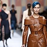 Bella Hadid Walking the Fendi Runway at Milan Fashion Week Spring/Summer 2018