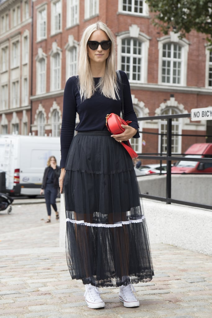 8c3ab51a22 With a Long-Sleeved Black T-Shirt and a Tulle Maxi Skirt | How to ...