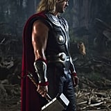 Chris Hemsworth as Thor in The Avengers.  Photo courtesy of Disney