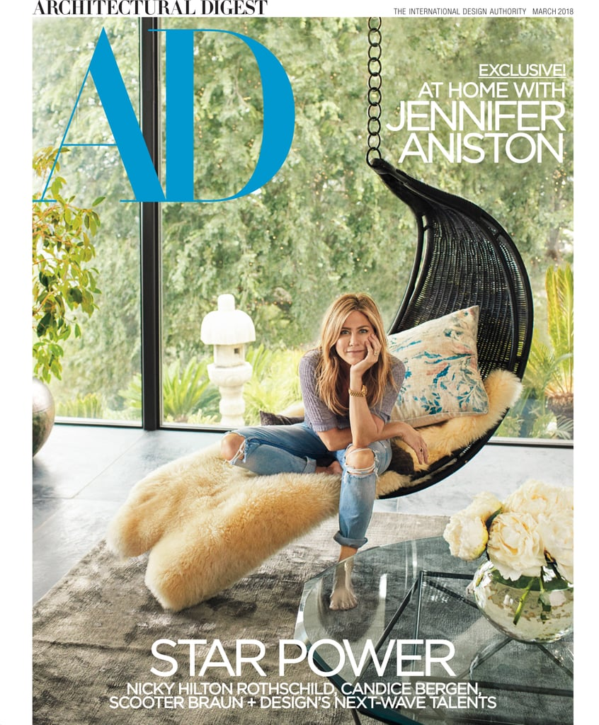 "Jennifer Aniston tells Architectural Digest that, when it comes to interior design: ""Sexy is important, but comfort is essential."" This is a little unexpected because, even so, her modern LA mansion is seriously worth lusting over. The 48-year-old actress opens up about her aesthetic preferences and gives the magazine a tour of her home she shares with Justin Theroux in its March issue.  ""If I wasn't an actress, I'd want to be a designer. I love the process,"" Jennifer says. ""There's something about picking out fabrics and finishes that feeds my soul."" The current home she lives in was completed by architect A. Quincy Jones in 1965 and Jennifer bought the property in 2011. Though the home was a tad dramatic for her taste — the front door was painted red, for example — Jennifer said she immediately ""felt a connection."" With interior designer Stephen Shadley, Jennifer has achieved her ideal aesthetic. ""Jen is drawn to wood, stone, and bronze, materials that have real substance and depth,"" says Shadley. ""No matter how beautiful or glamorous something is, it has to be warm and inviting.""  Her husband might have also had a little input. Jennifer says, ""Justin definitely wanted to be involved, so there was a bit of a learning curve for me on how to include another voice in the design process."" The couple seems to have figured it out, however, as Jennifer now boasts about the home's natural ""flow."" She explains: ""Every corner you turn, you have an experience. Everywhere you look, you get a vista. We worked very hard to get that flow right.""      Related:                                                                                                           Jennifer Aniston's ""At Home"" Jeans Are Less Than $250 and Really Kind of Sexy"