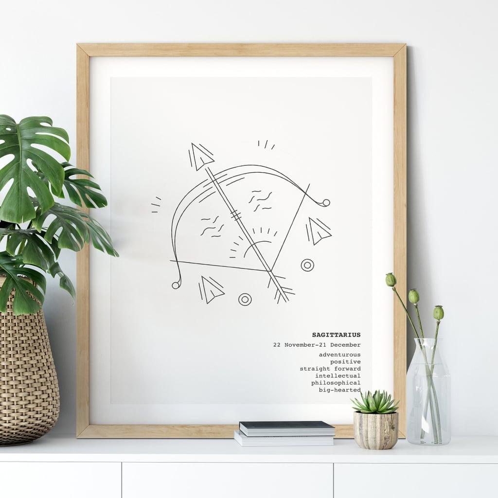 Sagittarius Astrology Wall Art Print