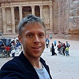In Jordan, Garfors made it to Petra, a breathtaking archaeological city in the south of the country.