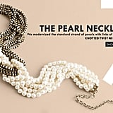 Classic pearls get tied up with metal chains for the new pearl necklace ($98).