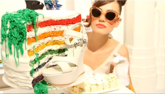 Alice + Olivia's Shoe Debut on Shopbop Celebrated with Cake - of Course! Catch this Cute Clip