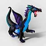 LED Blue Dragon Inflatable Halloween Decoration