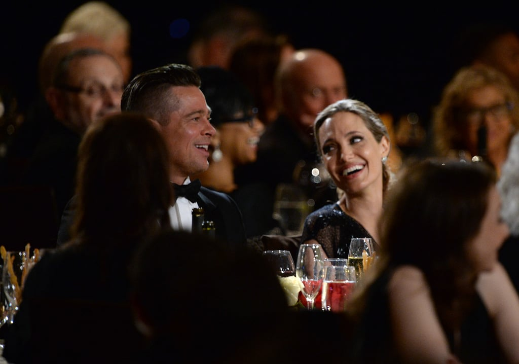 Angelina Jolie and Brad Pitt shared a sweet glance during the Governors Awards.
