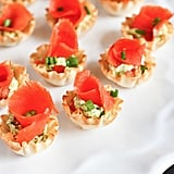 Mini Smoked Salmon and Pesto Yogurt Phyllo Bites