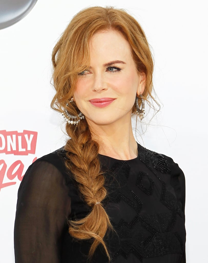 At the 2011 Billboard Music Awards, Nicole wore her strawberry blonde mane styled in a tousled side braid.