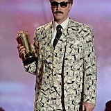 Funny man Will Ferrell brought out his personality when accepting the Comedic Genius award.