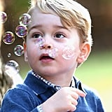 George Having Fun With Bubbles