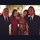 Jessica Alba and a pal caught up with Hilary Swank and Michael Kors. Source: Instagram User therealjessicaalba