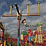 A ground view of Slinky Dog Dash.
