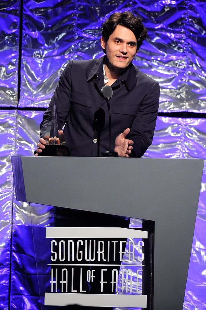 Pictures of John Mayer Presenting Taylor Swift a Songwriters Award in NYC
