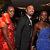 Pictured: Danai Gurira, Michael B. Jordan, and Lupita Nyong'o