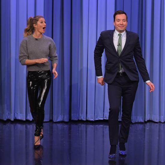 Gisele Bundchen Teaching Jimmy Fallon to Catwalk