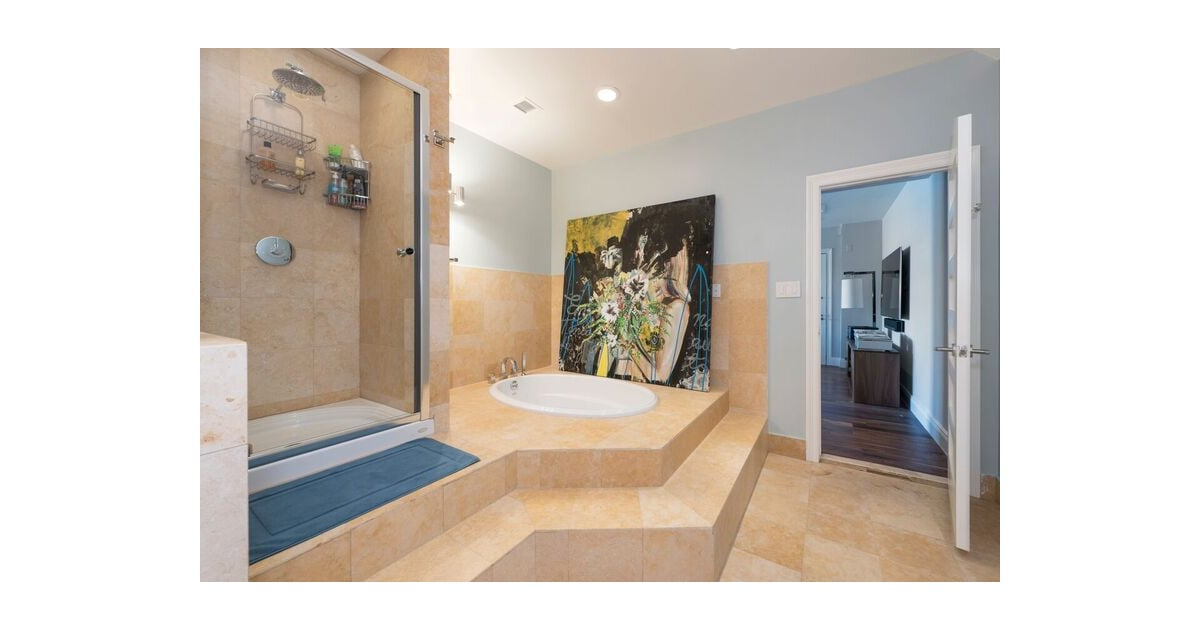 A spa like bathroom is included in the total four and a for A total new you salon