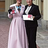 Dame Julie Walters and Helen McCrory OBE Investitures