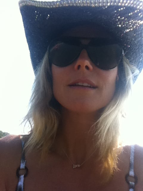 Heidi Klum celebrated Fourth of July in the sun.  Source: Twitter user heidiklum