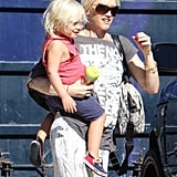 Zuma Rossdale spent a day with his mom, Gwen Stefani.