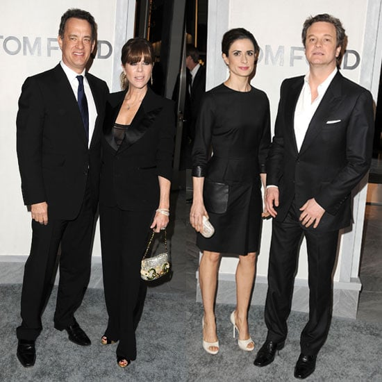 Pictures of Colin Firth, Livia Giuggioli, Tom Hanks and Rita Wilson at Tom Ford Store Opening