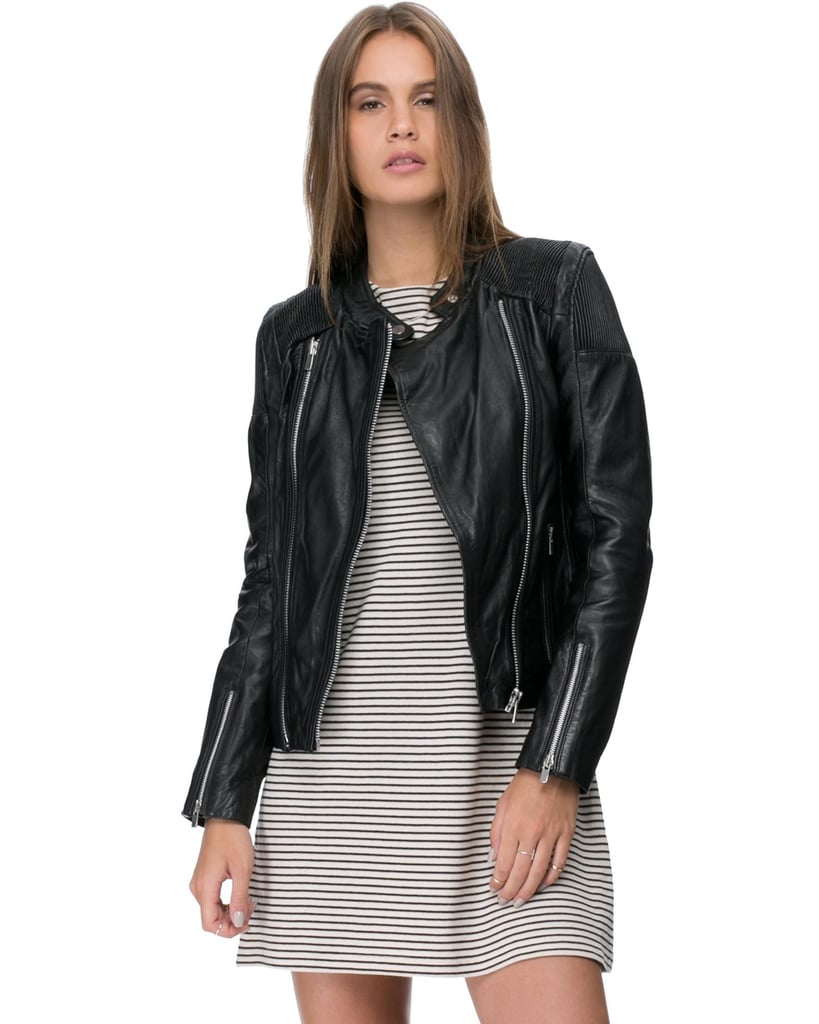Mng leather jacket