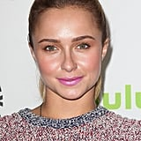 When it comes to wearing multiple pastels together, look to Hayden Panettiere for inspiration. Start with a golden peach shadow all over your lids, followed by coral blush and a bright pink lip colour for a get-noticed effect.