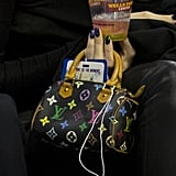 Kendall Jenner Mini Louis Vuitton Bag at Basketball Game