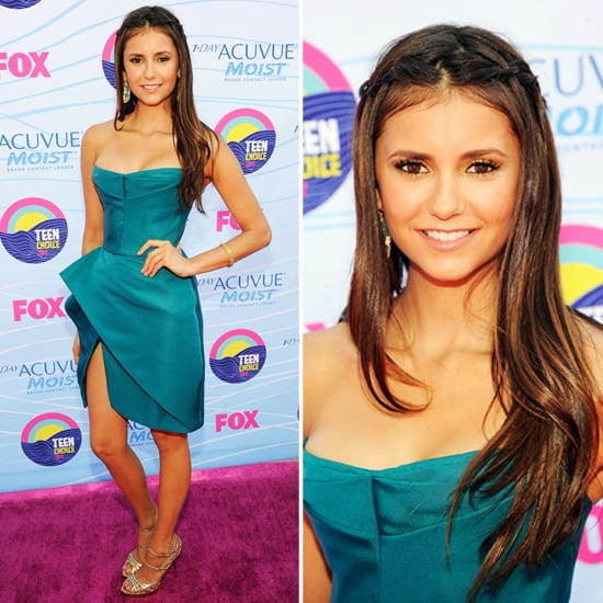 Pictures of Vampire Diaries Star Nina Dobrev in Emerald J. Mendel Dress at the 2012 Teen Choice Awards: Rate or Hate It?