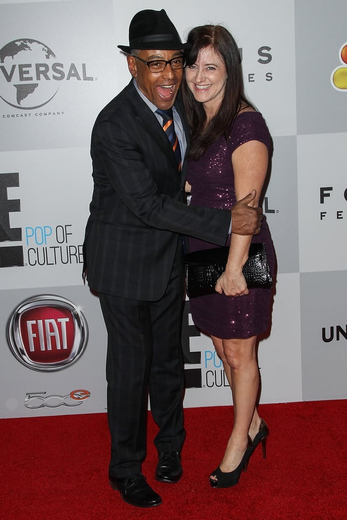 Giancarlo Esposito and Joy Mcmanigal had a fun moment on the red carpet.