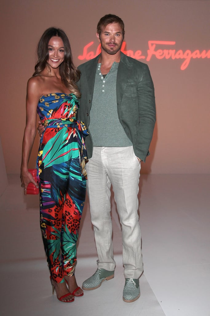 Sharni Vinson and Kellan Lutz at Salvatore Ferragmo