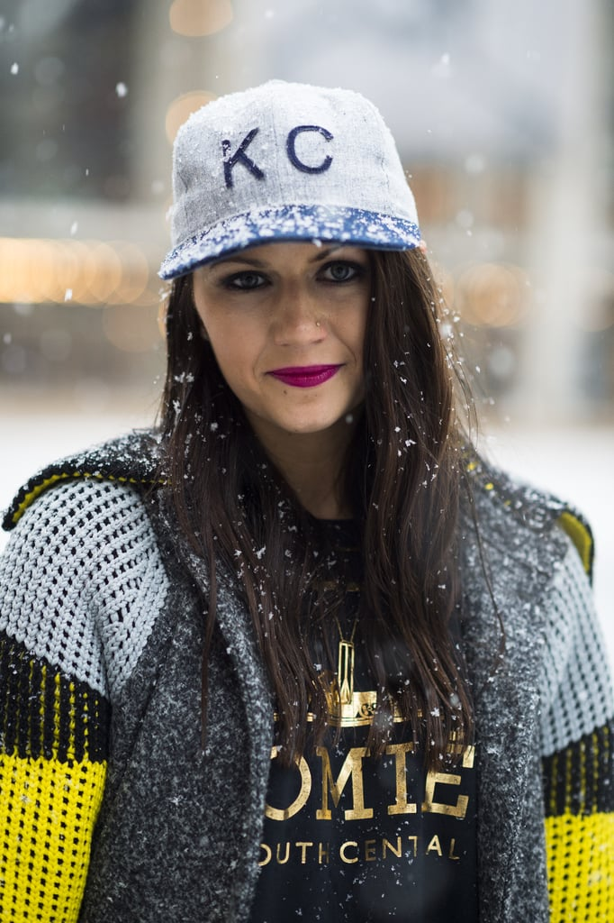 Just because there are flurries floating around, doesn't mean your makeup has to be ho-hum, like Corri McFadden proved. Source: Le 21ème | Adam Katz Sinding