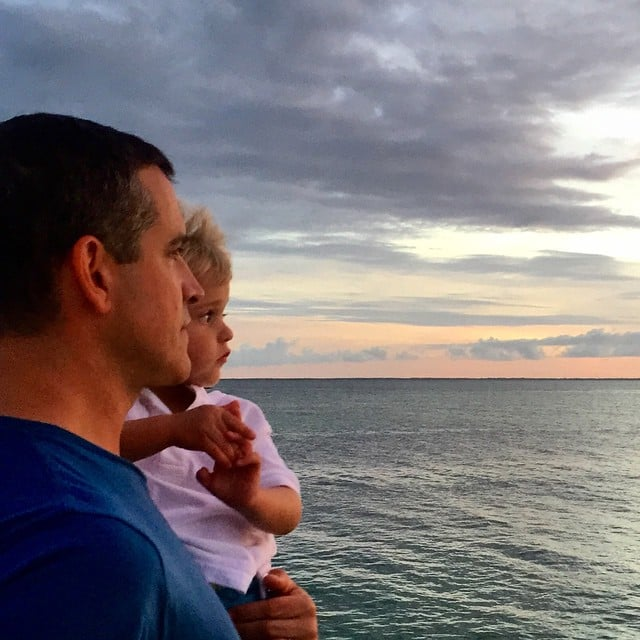 """Reese Witherspoon shared this shot of her husband, Jim Toth, and their son, Tennessee, captioned, """"Happiest of #FathersDay to all the sweet dads out there! Like this one! JT, you are an amazing father who loves and nurtures our kids everyday. Here's to all the dads who raise our kids to be incredible people!"""""""