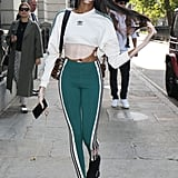 Winnie Harlow Stopped by the Hailey Baldwin X Adidas Show in Adidas Separates