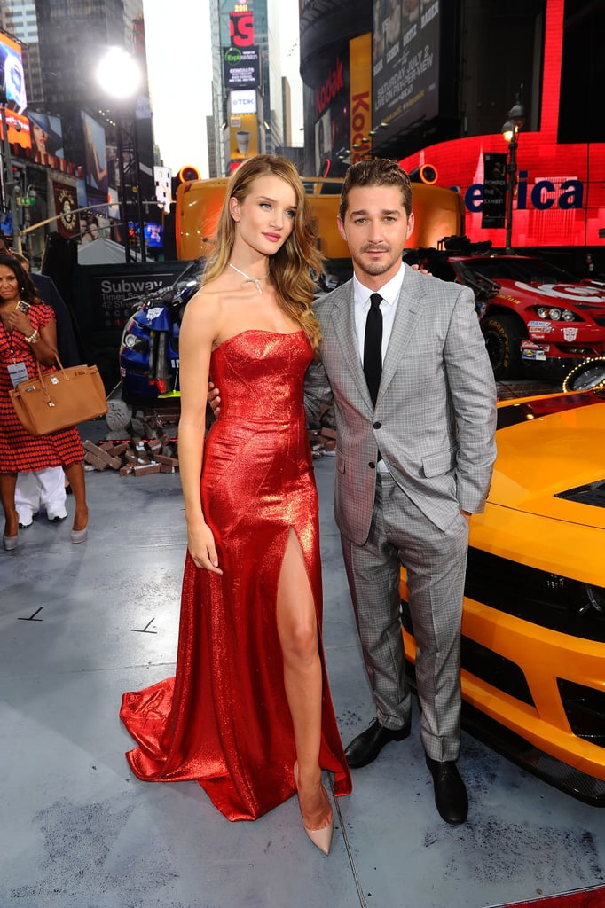 Shia LaBeouf and his Transformers: Dark of the Moon costar Rosie Huntington-Whiteley posed together at the premiere of their action film in NYC tonight. They're finally debuting the project stateside after showing off the movie in Russia and Germany over the last week. Shia's been making the press rounds since returning to the Big Apple and he stopped by The Late Show With David Letterman yesterday, though it was Shia LaBeouf's interview in Details that turned heads. Shia told the magazine he hooked up with his previous leading lady Megan Fox and even shared his thoughts about ex, Carey Mulligan. Shia may be grabbing attention with his recent quotes, but if the Transformers: Dark of the Moon reviews are any indication, his action flick will soon be in the spotlight.