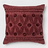 Embroidery Applique Square Pillow