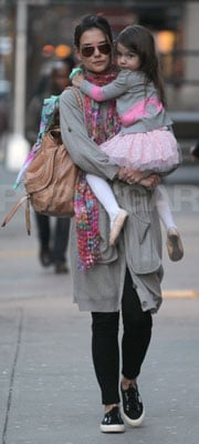 Katie Holmes With Chloe Bag With Suri in NYC