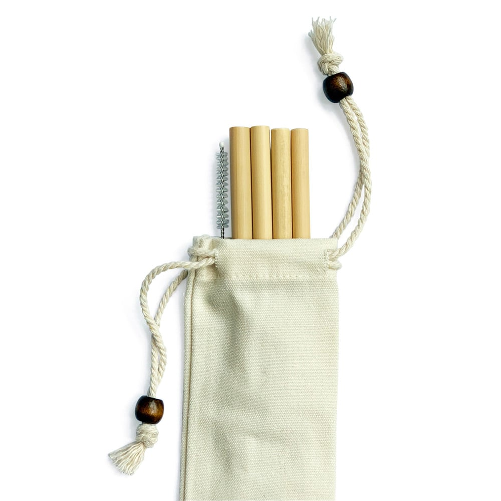 Goop Exclusive Bamboo Straws, Set of Four