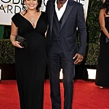 Idris Elba went sans bow-tie for his night at the Golden Globes.