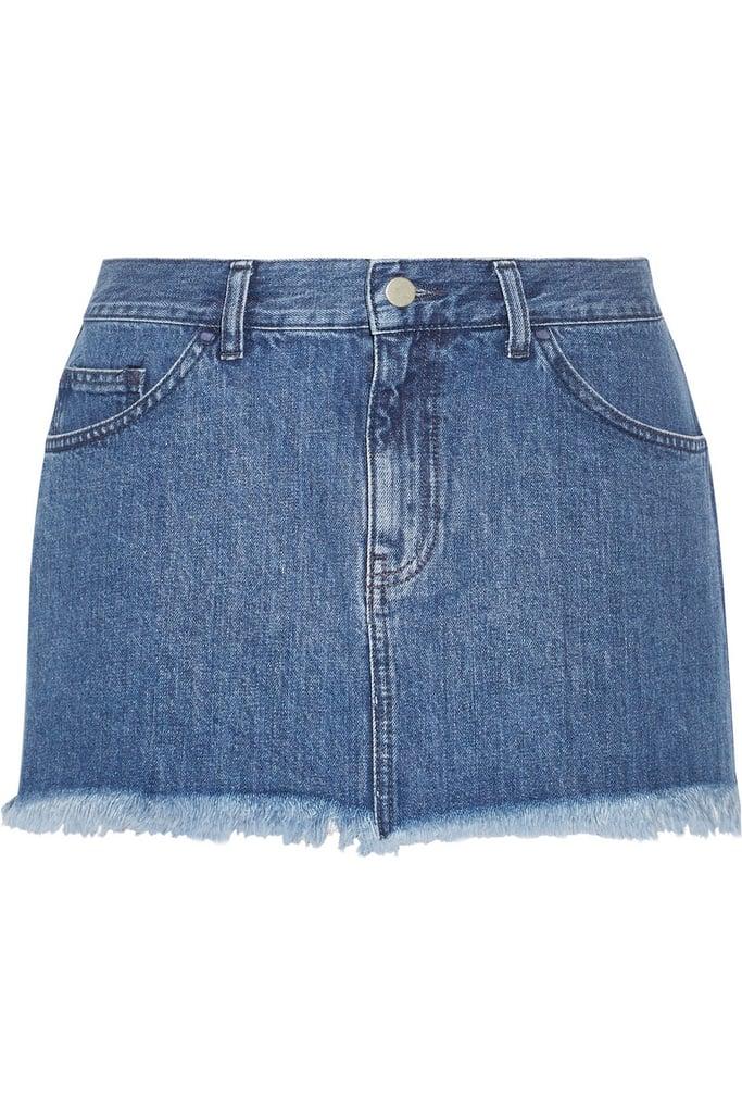 Marques'Almeida For Topshop Frayed Denim Mini Skirt (£60)