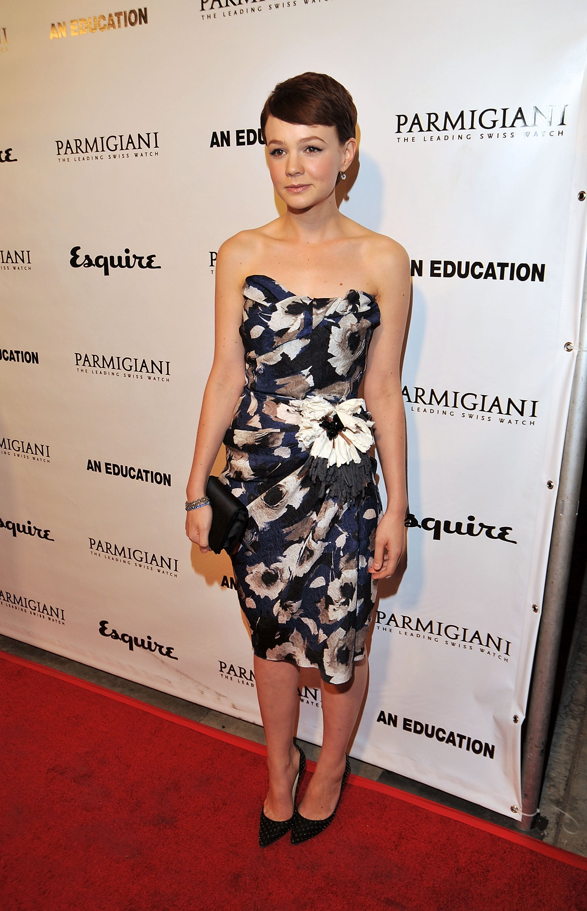 Carey Mulligan in Floral Lanvin at the 2009 An Education LA Premiere