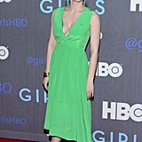 Anna Chlumsky chose a bright green Chris Benz Spring '13 dress for the premiere party.