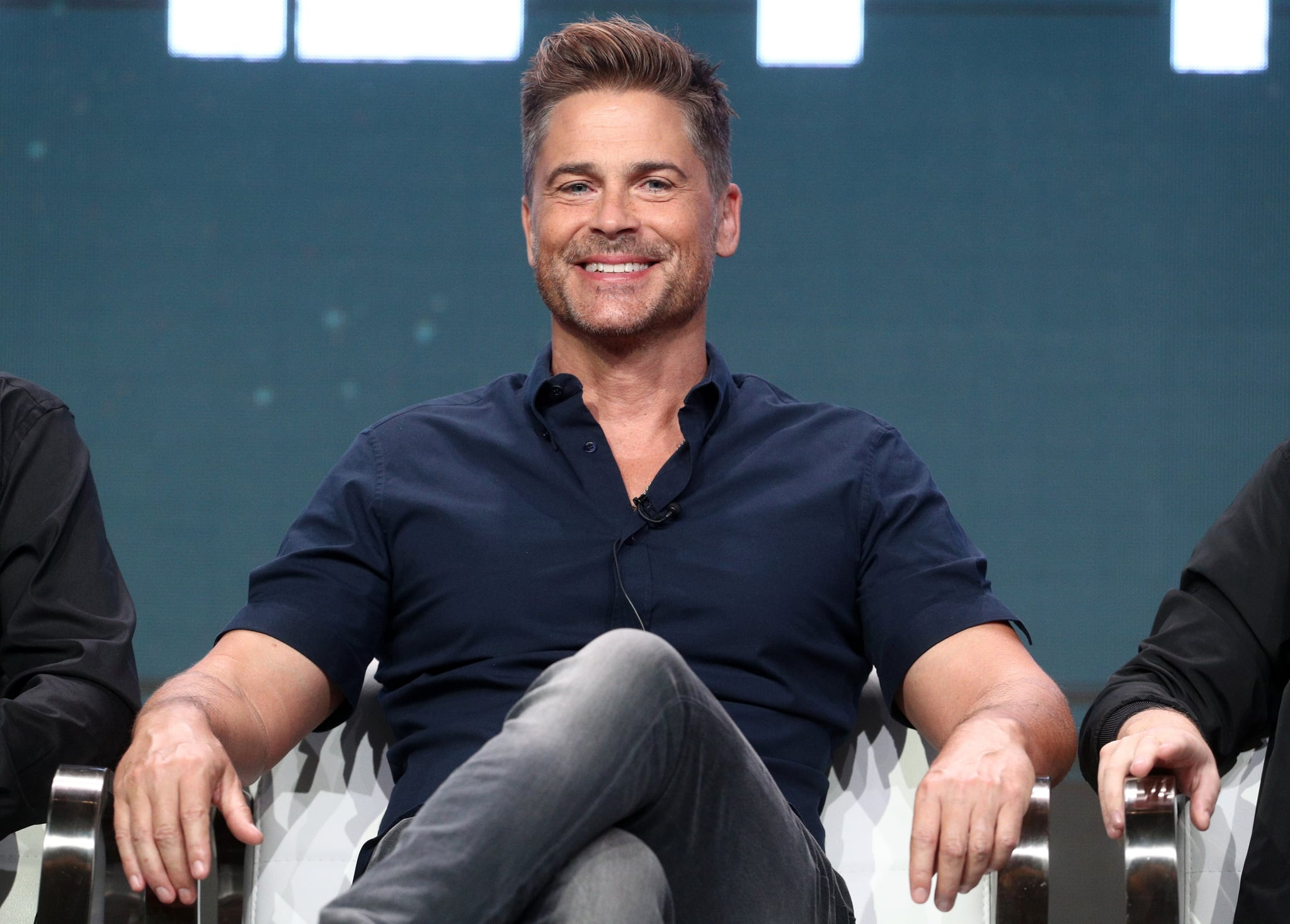 BEVERLY HILLS, CA - JULY 28:  Executive producer Rob Lowe of 'The Lowe Files ' speaks onstage during the A+E  portion of the 2017 Summer Television Critics Association Press Tour at The Beverly Hilton Hotel on July 28, 2017 in Beverly Hills, California.  (Photo by Frederick M. Brown/Getty Images)