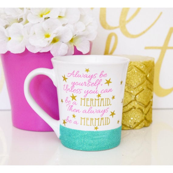 Always Be A Mermaid Glitter Mug