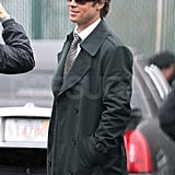 Pictures of Brad Pitt in Boston