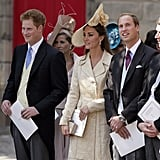 The Duke and Duchess of Cambridge, who were married just a few months earlier, were present for the ceremony, as was Prince Harry.
