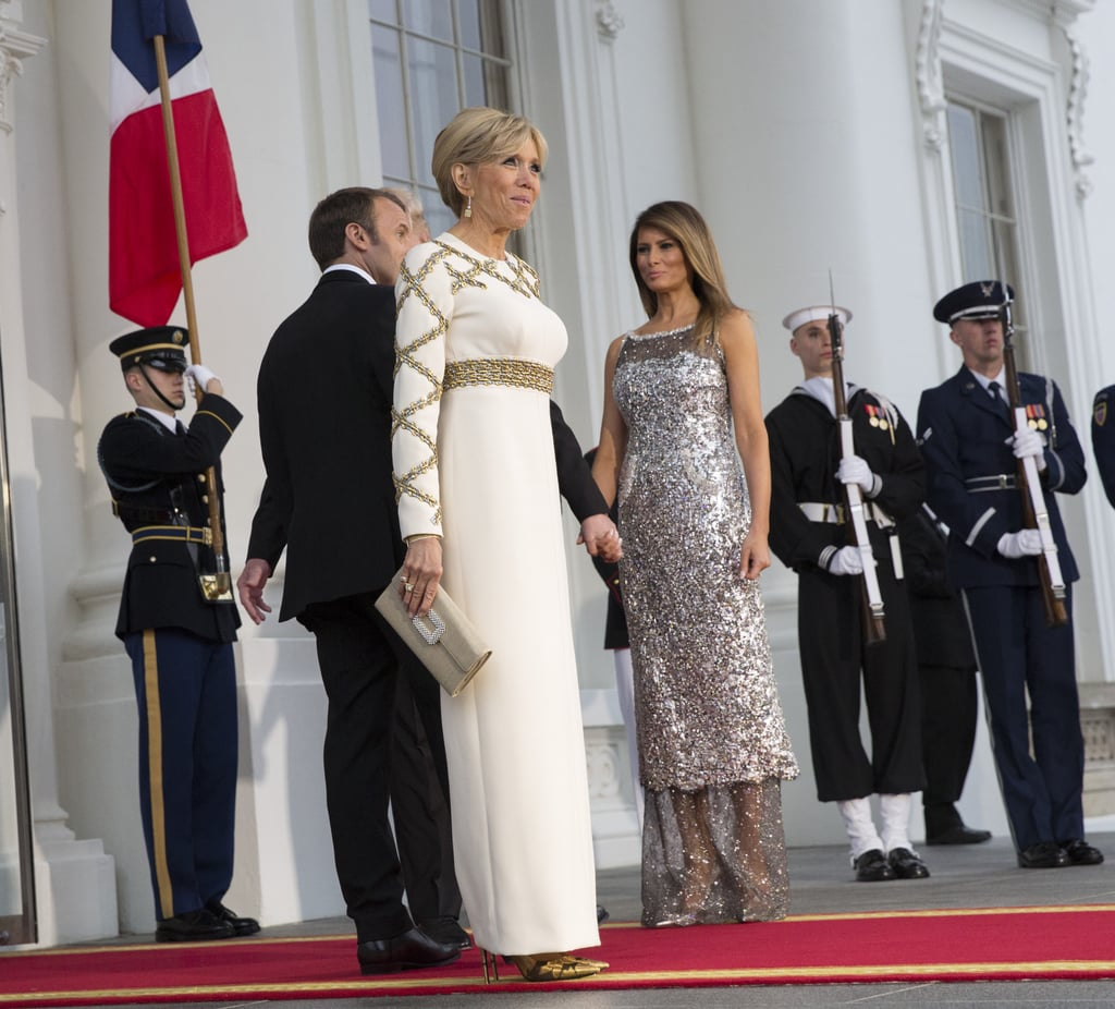 Melania Trump Sequined Chanel Dress at State Dinner 2018 | POPSUGAR ...