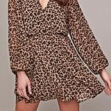 ASTR the Label Raphaela Leopard Print Chiffon Dress