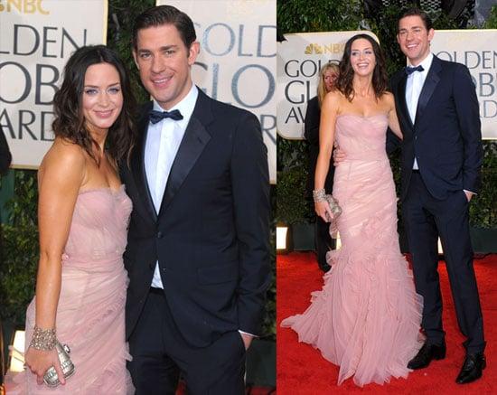 Photos of Emily and John and Golden Globes